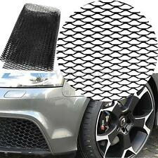 """Car Vehicle Black Body Grille Net 40""""x13"""" Universal Aluminum Mesh Grill Section"""