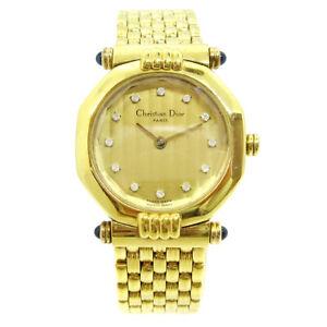Christian Dior Depose 64151 Ladies Quartz Wristwatch 12PD Gold plated 34209