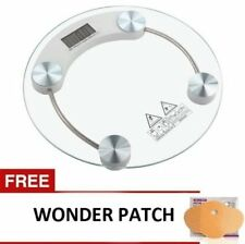 Digital LCD Electronic Tempered Glass Bathroom Weighing Scale with Wonder Patch