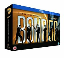 JAMES BOND BLU RAY BOX SET COLLECTION ALL 22 MOVIE 007 FILMS Brand New Sealed UK
