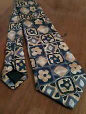 Cravatta Da Bambino BRUMS Beige Blu azzurro 100% Seta Made in Italy Tie Kids