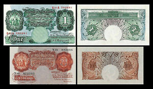 2x 10 Shillings + 1 Pound - Issue ND 1914 George V - Reproduction - 26