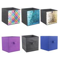 Foldable Collapsible Storage Cube Basket Bin Box Organizer Fabric Fold Flat