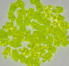 LEGO LOT OF 50 NEW TRANSPARENT NEON GREEN 5 POINT CRYSTALS JEMS JEWELS PARTS