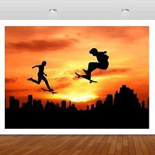 Extreme Sports Skateboarding Jump  3D Mural Decal Wall Sticker Poster Vinyl S321