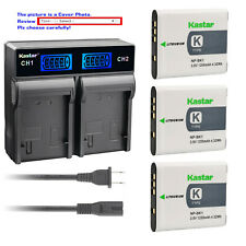 Kastar Battery LCD Rapid Charger for Sony NP-BK1 BC-CSK Sony Cyber-shot DSC-W370