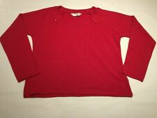 Ladies long sleeve Red Top Size 20-22