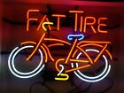 """New Belgium Fat Tire Bicycle Bike 17""""x14"""" Neon Sign Beer Light Lamp Real Glass"""