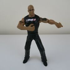 WWE Flexforce The Rock Dwayne Johnson Wrestling Figure, 2010 Mattel WWF