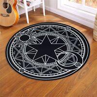 Magic Circle Carpet Card Captor Sakura Gift Cute Bedroom Round Floor Blanket Mat