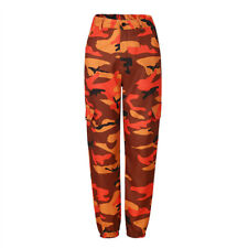 Women's Camo Cargo Trousers Casual Pants Military Army Combat Camouflage Print