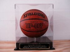 Basketball Display Case With A Miami Heat 2013 NBA Champions Engraved Nameplate