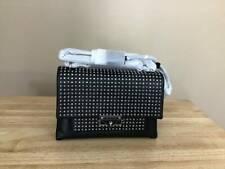 Michael Kors Cece Medium Stud Convertible Leather Shoulder Bag Black Silver NWT