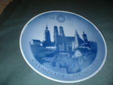 """Collectable 1972 Royal Copenhagen Olympiade Munchen 8"""" Plate, Signed"""