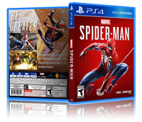 Marvel Spider-Man - Replacement PS4 Cover and Case. NO GAME!!