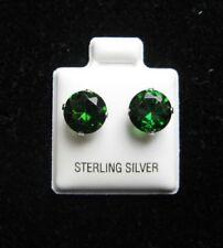 Orecchini di lusso verde in argento sterling zircone