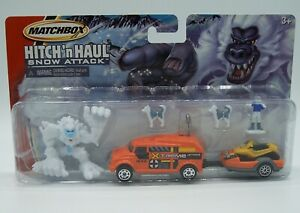 """""""MATCHBOX"""" HITCH 'N HAUL **SNOW ATTACK** TWIN PACK w/ ROBOT TRUCK MOC"""