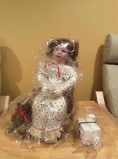 New Sitting Porcelain Doll Vintage Royal Doulton Holly's Christmas Wish Girl NIB