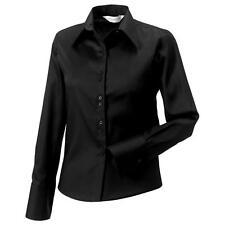 Women's Collared Long Sleeve Sleeve Cotton Hip Length Tops & Shirts