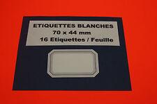 ETIQUETTES 9 Feuilles = 144 Étiquettes Autocollantes Blanches & Bleu 70 x 44 mm