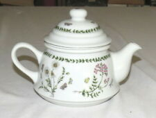 Andrea by Sadek Teapot & Infuser - Green band with Flowers and Butterflies