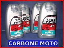 4 LITRI OLIO MOTOREX CROSS POWER 10W50 4T 100% SINTETICO CONSIGLIATO KTM