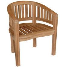 KMH Teak Gartenstühle Gartenstuhl Gartensessel Stuhl Stühle Gartenmöbel Holz