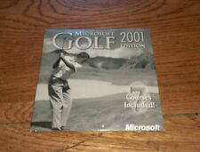 Microsoft Golf 2001 Edition 7 courses included software CD-Rom Golfing Golfer