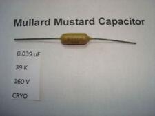 MULLARD MUSTARD CAPACITOR. 0.039uF 39K 160V 10% *1PC* HIFI. CRYOTREATED. + RC2