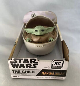 Star Wars The Mandalorian Remote Control The Child & Pram Crib Car 27 MHz - NIB