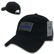 Rapid Dominance Thin Blue Line Graphic Relaxed Mens Cap