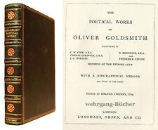 """Goldsmith: The Poetical Works. Signierter """"Riviere""""-Einband."""