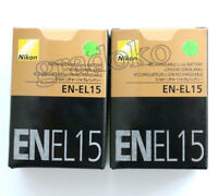 2 X EN-EL15 New battery For Nikon D7100 D7200 D7000 D600 D610 D800 MH-25 MB-D15