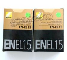 2 X EN-EL15 New battery For Nikon D7100 D7200 D7000 D600 D610 D800 MH-25 MB-D15