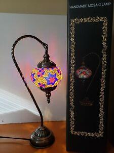 Turkish Handmade Mosaic Table Top Night Stand Lamp 120
