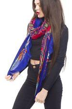 Bufanda Primavera chal Nuevo Verano estilo brillante Retro Estampado impresión bufanda con flecos