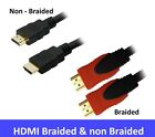 HDMI CABLE BRAIDED - NON BRAIDED 0.5m 1m 1.5m 3m 5m 10m 15m 20m  HD 4K 3D V1.4