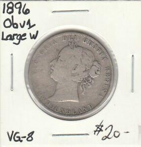 Newfoundland 1896 50 Cents OBV> 1 Large W