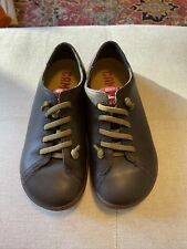 Kids Camper Shoes, Brown Leather, Size 34 (Us 3)