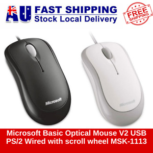 Microsoft Basic Optical Mouse V2 USB PS/2 Wired with scroll wheel MSK-1113