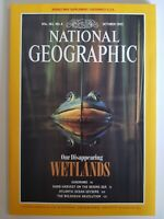 National Geographic Vol. 182 No. 4 October 1992 Our Disappearing Wetlands