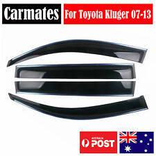 Weather Shield Visor For Toyota Kluger 07-13 4 Doors double sided tape clips AU