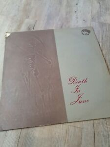 """DEATH IN JUNE The Calling NER 12"""" & RARE TEST PROOF SLEEVE NEOFOLK CURRENT 93"""