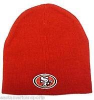 San Francisco 49ers NFL Solid Red Knit Hat Skull Cap Snow Ski Winter Logo Beanie