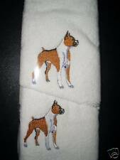 BOXER DOG - HAND TOWEL & FACE WASHER SET - BRAND NEW