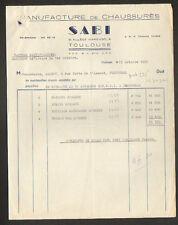 """TOULOUSE (31) USINE de CHAUSSURES """"SABI"""" en 1952"""