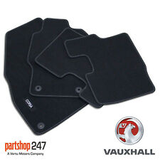 Genuine OE Vauxhall Corsa D/E Tailored Black Velour Front/Rear Carpet Floor Mats