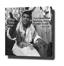 "MUHAMMAD ALI CANVAS ART PRINT POSTER PHOTO 20""x20"" MOTIVATIONAL QUOTE BOXING"