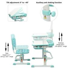 Children's Desk Chair Set Height Adjustable Lifting Table Set W/Reading Stand