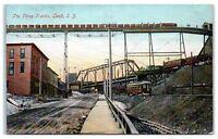 Early 1900s The Three Tracks, Lead, SD Postcard